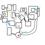 ダークソウル2攻略クズ底のマップ。ハベル装備の位置もあり